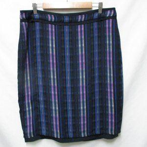 Banana Republic plaid Satin knee skirt NEW Size 14